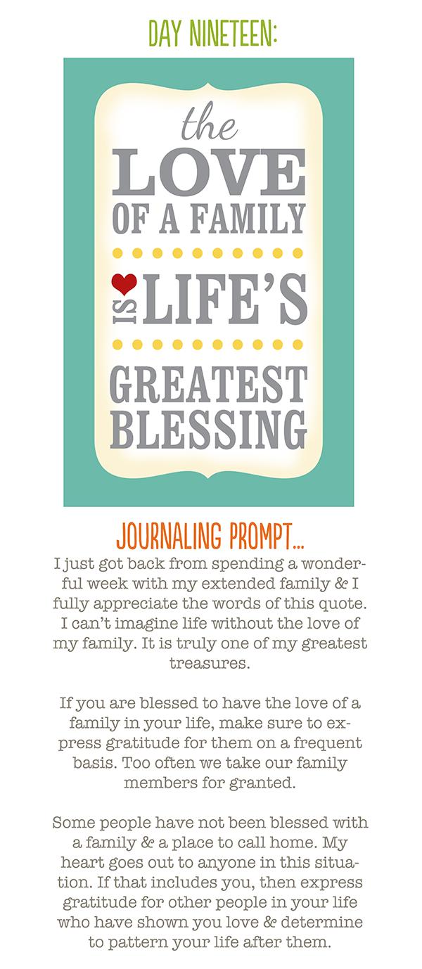 Day 1 – Gratitude Challenge - Prompt 19