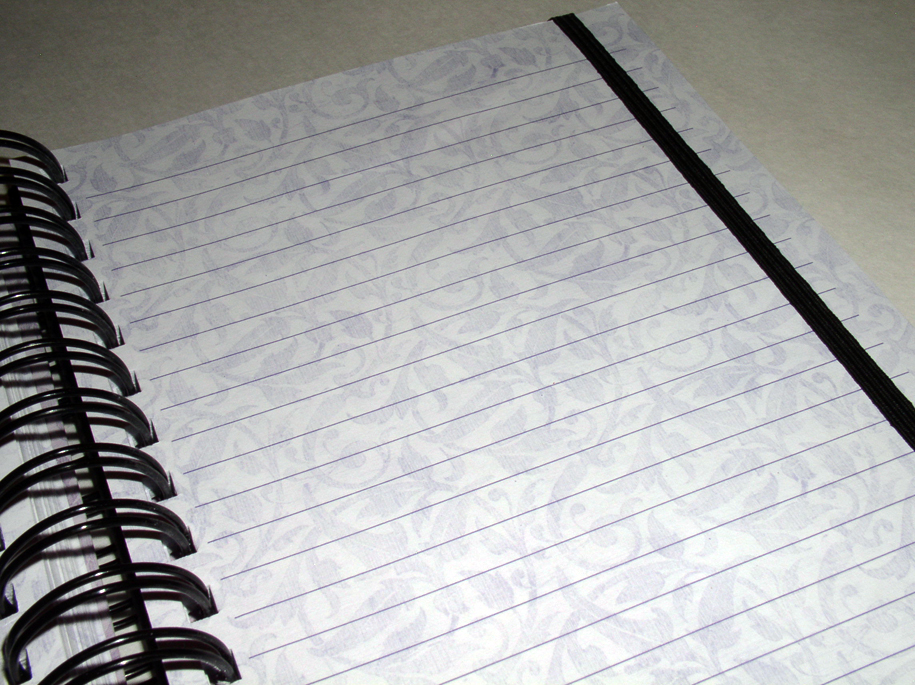 Inside pages of journal