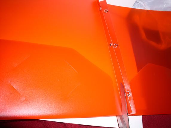Step 2 - Cut red folder in half